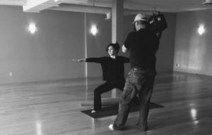 Cathy Murphy doing yoga